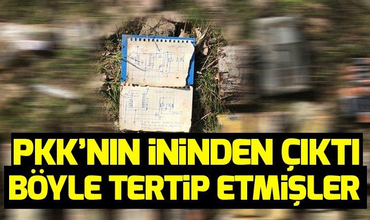 PKK'LI TERÖRİSTLERİN EL YAPIMI PATLAYICI ŞEMASI BULUNDU