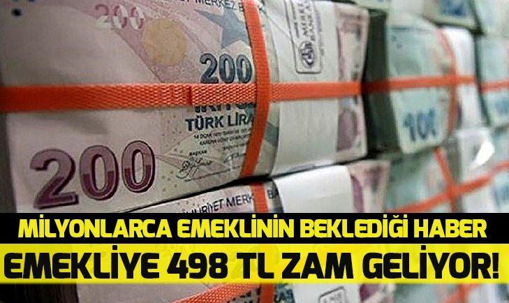Emekliye 498 lira zam! En düşük emekli maaşı ne kadar oldu?
