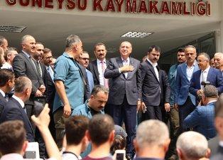 Başkan Erdoğan'a Trabzon ve Rize'de yoğun ilgi