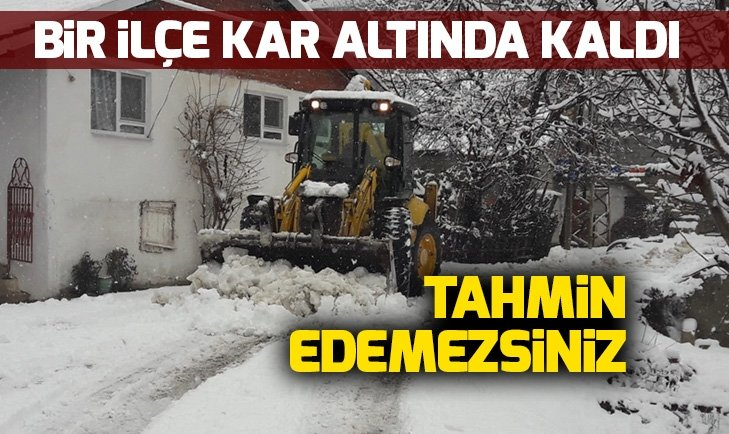 ANTALYA KAŞ KARLA KAPLANDI
