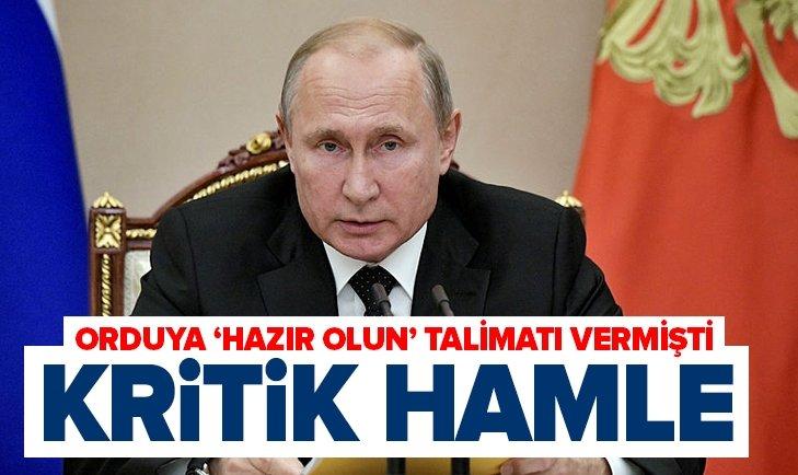 PUTİN ORDUYA TALİMAT VERMİŞTİ! RUSYA GÖRÜNTÜLERİ YAYINLADI