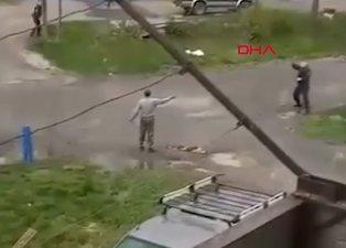 Polise el bombasıyla gözdağı vermeye çalıştı! Elinde patladı