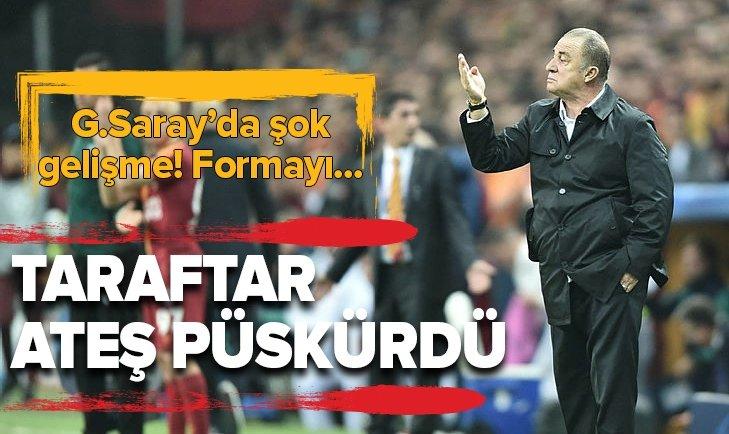 TARAFTAR FATİH TERİM'E ATEŞ PÜSKÜRDÜ