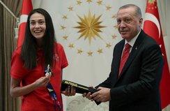 Başkan Erdoğan İrem Yaman'ı kabul etti