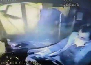 Beşiktaş'taki İETT otobüsü kazasının görüntüleri ortaya çıktı