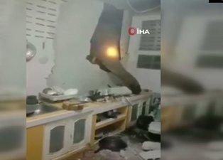 Bir ayda ikinci şok! Aç kalan fil evine girdi o anların videosunu sosyal medyadan paylaştı