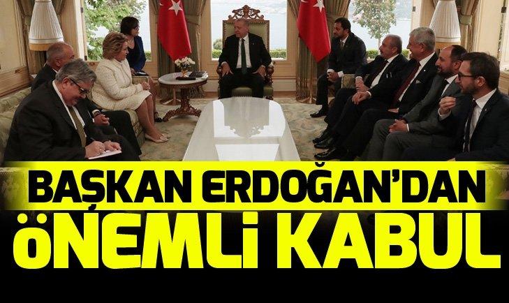 Başkan Erdoğan, Türk Konseyi Genel Sekreteri Amreyev'i kabul etti