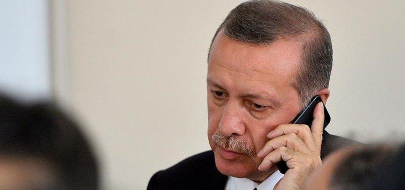 ERDOĞAN'DAN KARAMOLLAOĞLU'NA TAZİYE TELEFONU
