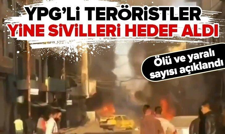 YPG'Lİ TERÖRİSTLER YİNE SİVİLLERİ HEDEF ALDI! KAMIŞLI'DA BOMBALI SALDIRI