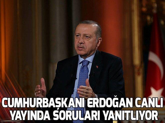 Cumhurbaşkanı Erdoğan canlı yayında soruları yanıtlıyor