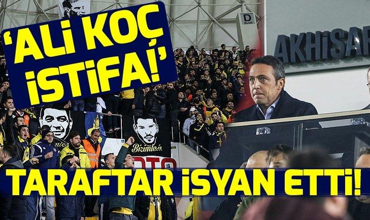 FENERBAHÇE TARAFTARINDAN FLAŞ PROTESTO: ALİ KOÇ İSTİFA!