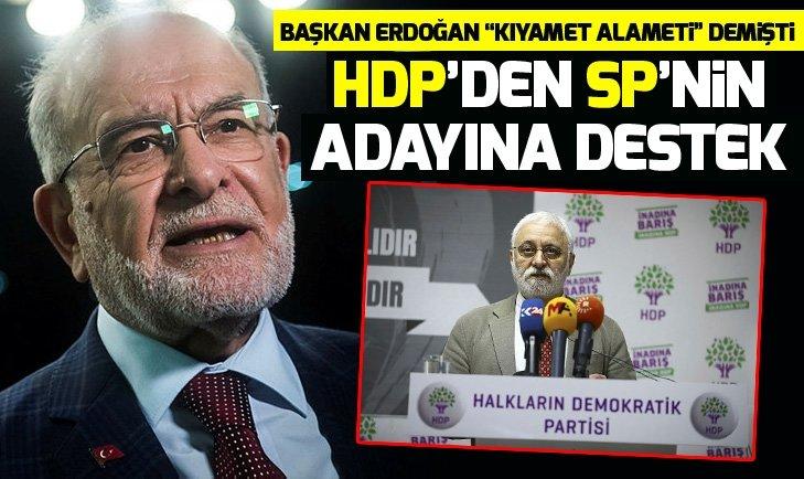 HDP'DEN SAADET PARTİSİ'NİN ADAYINA DESTEK