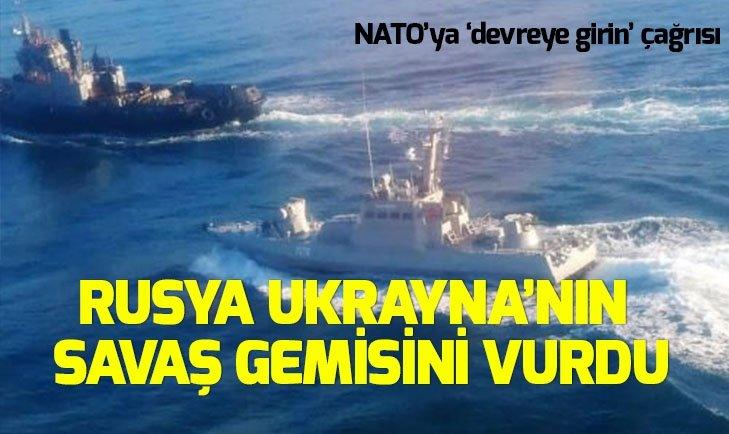 Flaş açıklama: Rusya savaş gemisini vurdu