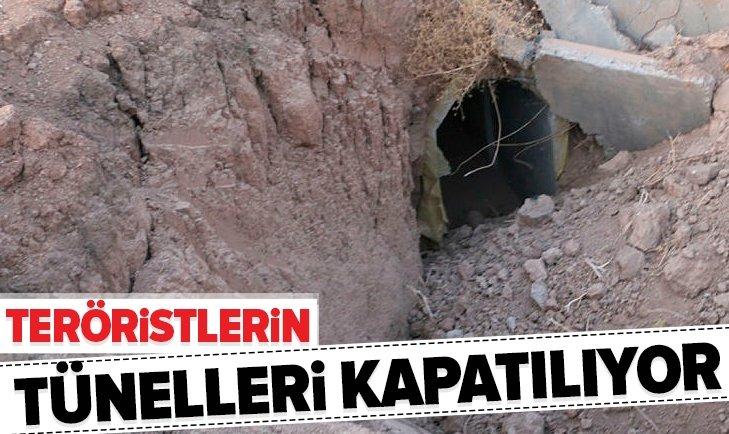 YPG'NİN BOMBA TUZAKLI TÜNELLERİ KAPATILIYOR!