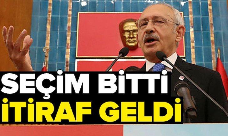 CHP'DE SEÇİM BİTTİ İTİRAF GELDİ