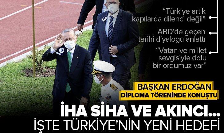 Başkan Recep Tayyip Erdoğan'dan Hava Harp Okulu diploma töreninde son dakika açıklamaları