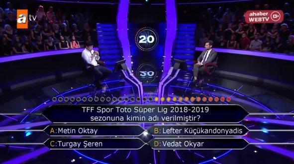 Kim Milyoner Olmak İster'e damga vuran Süper Lig sorusu
