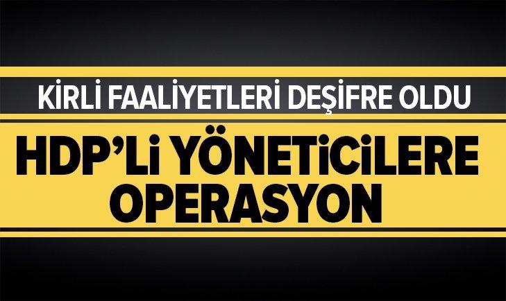 KARS'TA HDP'Lİ YÖNETİCİLERE OPERASYON: 11 GÖZALTI