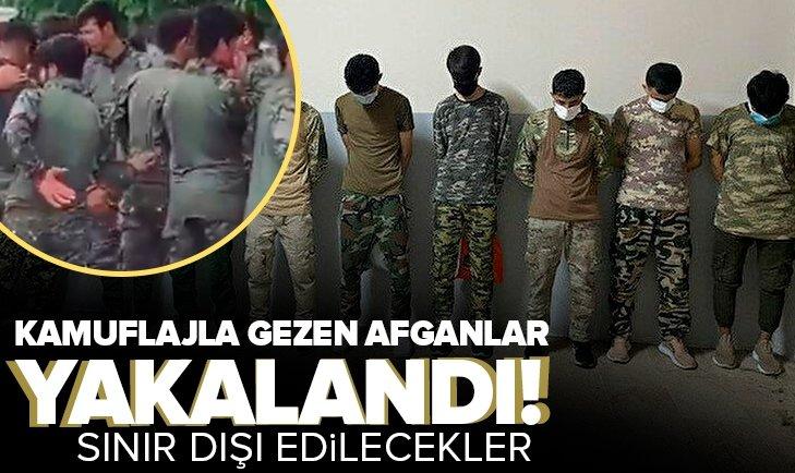 İstanbul'da kamuflajla gezen Afganlar gözaltına alındı!
