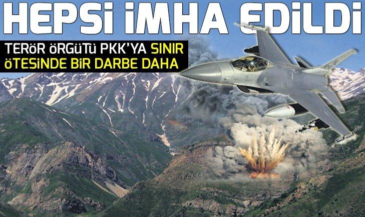PKK HEDEFLERİ YERLE BİR EDİLDİ