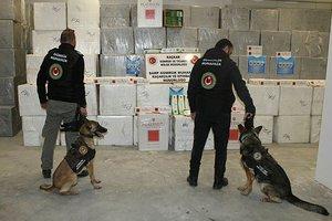 Kaçak sigaralar sınırda yakalandı