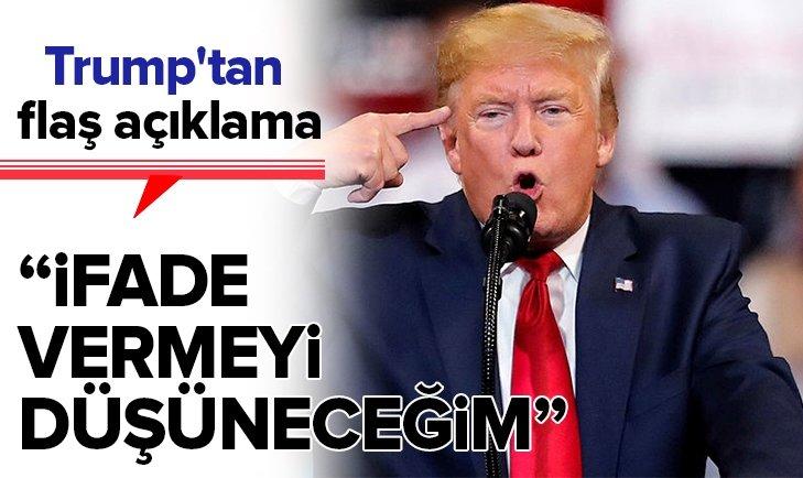 TRUMP'TAN FLAŞ AÇIKLAMA