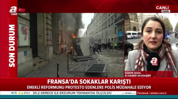 Fransız polisinden protestoculara sert müdahale