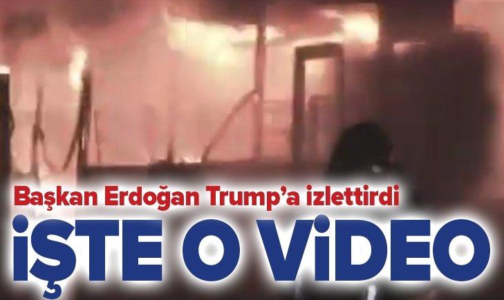 İŞTE ERDOĞAN'IN TRUMP'A İZLETTİRDİĞİ VİDEO