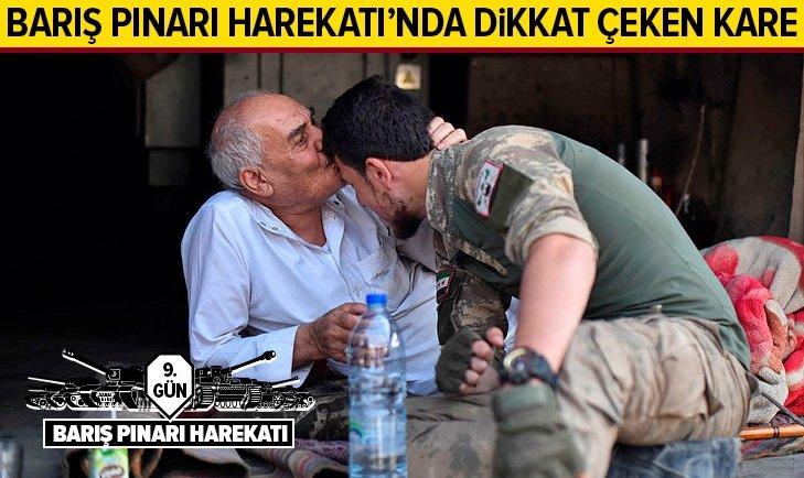 BARIŞ PINARI HAREKATI'NDA DİKKAT ÇEKEN KARE...