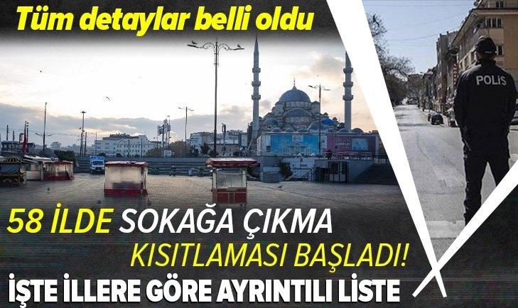 Hafta sonu uygulanacak sokağa çıkma kısıtlaması başladı! Hangi illerde kısıtlama olacak? İstanbul Ankara ve İzmir'de hafta sonu dışarı çıkılabilecek mi? Hafta sonu kafe ve restoranlar açık mı?
