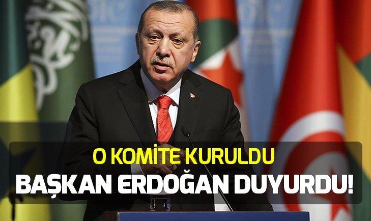 Başkan Erdoğan duyurdu: İSEDAK Milli Koordinasyon Komitesi kuruldu