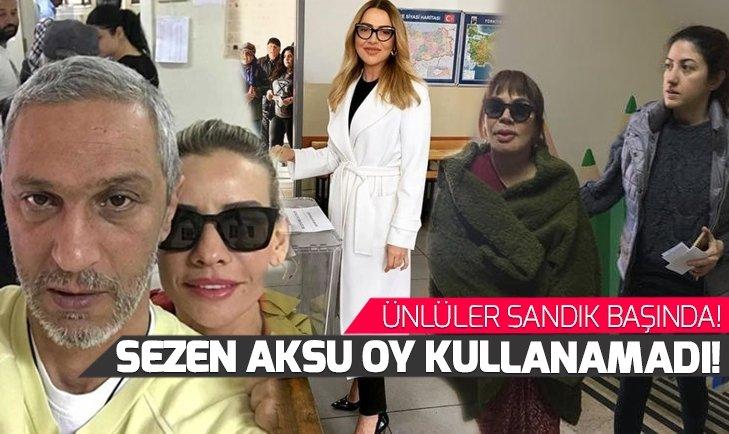 Sezen Aksu yerel seçimlerde oy kullanamadı! 31 Mart Yerel Seçimleri için ünlüler sandık başında