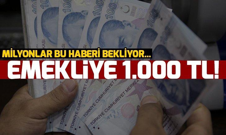 EMEKLİYE 1.000 TL BAYRAM İKRAMİYESİ!