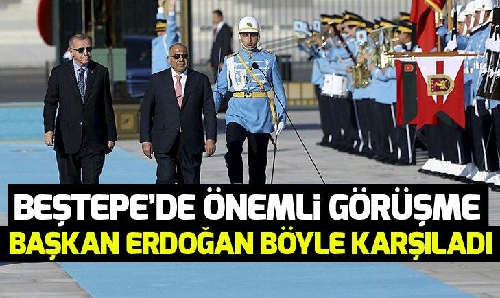 Erdoğan, Irak Başbakanı'nı resmi törenle karşıladı