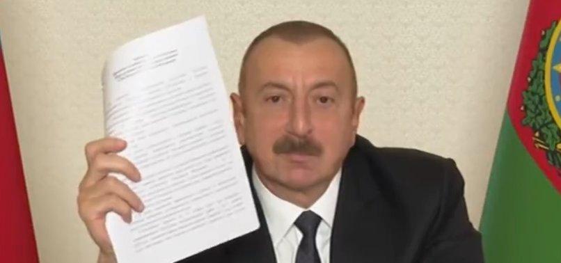 Azerbaycan Cumhurbaşkanı Aliyev'den zafer açıklaması