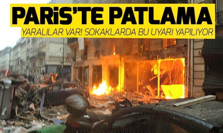 Son dakika: Pariste patlama