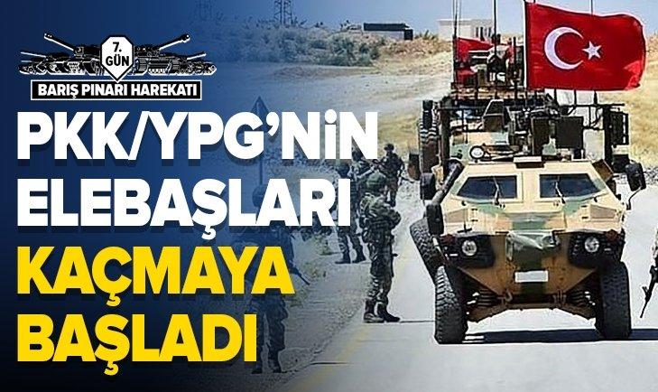 BARIŞ PINARI HAREKATI'NDA SON DURUM: PKK/YPG'Lİ TERÖRİSTLERİN SÖZDE ELEBAŞLARI KAÇIYOR