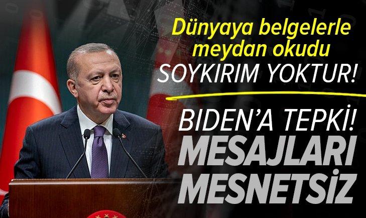 Başkan Erdoğan'dan Biden'a sert tepki