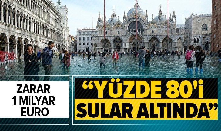 SULARIN YÜKSELDİĞİ VENEDİK'TE ZARAR YAKLAŞIK 1 MİLYAR EURO