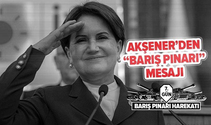 AKŞENER'DEN 'BARIŞ PINARI' AÇIKLAMASI: TÜRK TOPÇUSU...