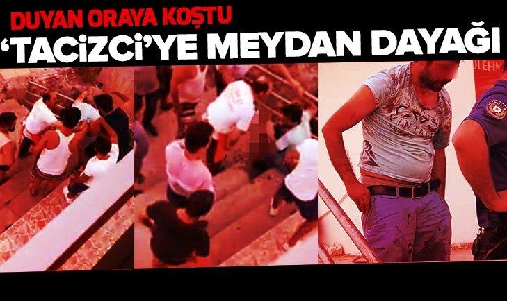 Antalya'da 'tacizci'ye meydan dayağı!