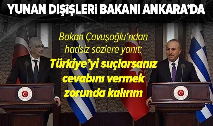 Son dakika | Dışişleri Bakanı Mevlüt Çavuşoğlu ve Yunan mevkidaşı Nikos Dendias'tan flaş açıklamalar