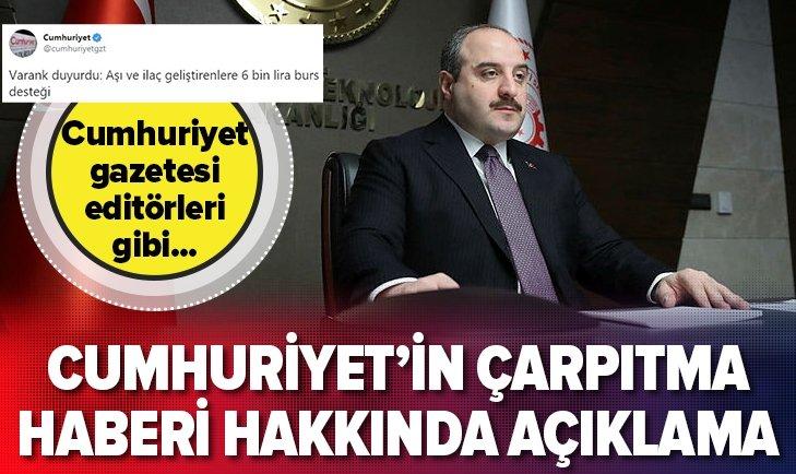 BAKAN VARANK'TAN CUMHURİYET'İN ÇARPITMA HABERİNE CEVAP