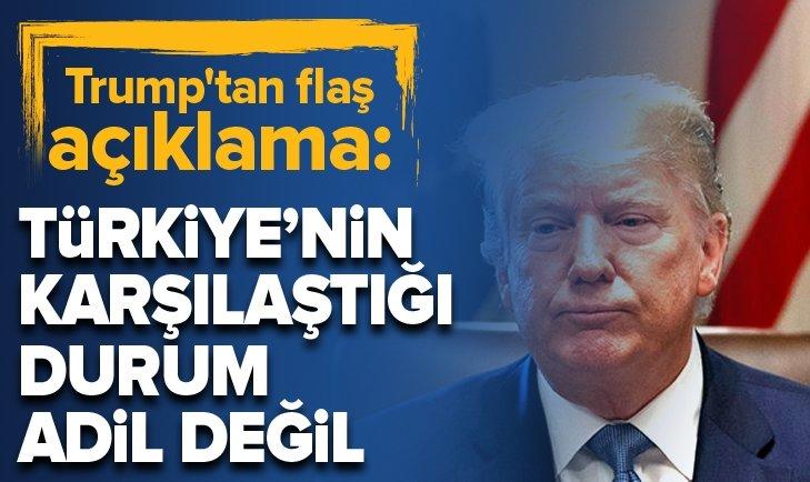 Donald Trump'tan flaş Türkiye açıklaması