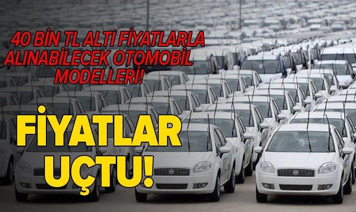 İKİNCİ EL FİYATLARI EL YAKIYOR! İŞTE 40 BİN TL ALTI FİYATLARLA ALINABİLECEK OTOMOBİLLER...