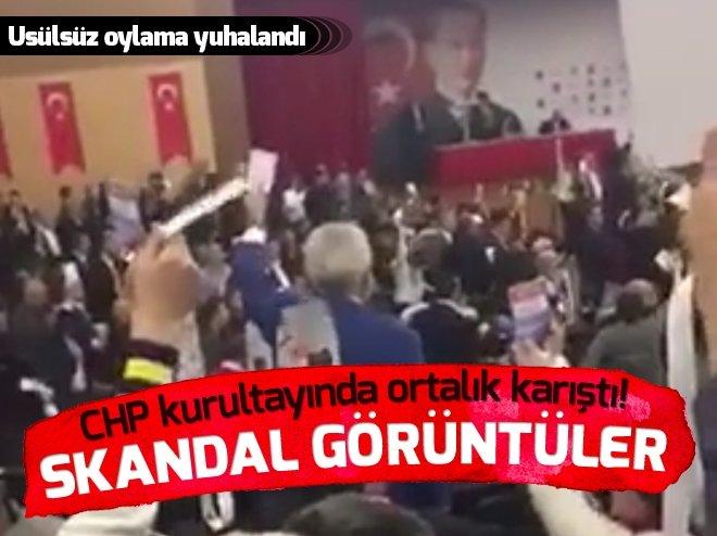 CHP KURULTAYINDA ORTALIK KARIŞTI