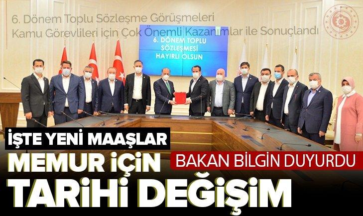 Çalışma ve Sosyal Güvenlik Bakanı Bilgin 'hayırlı olsun' diyerek duyurdu! Memur için tarihi değişim