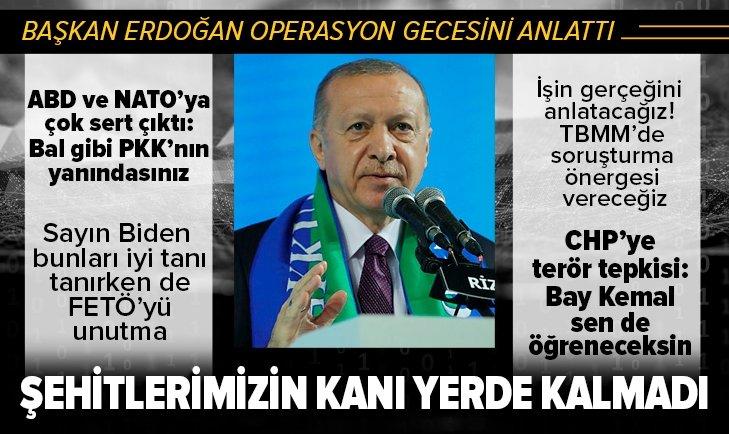Başkan Erdoğan'dan ABD'ye çok sert Gara tepkisi!