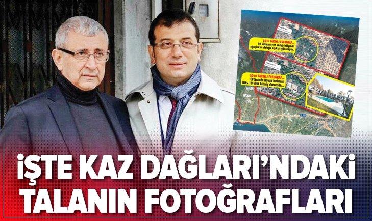 İŞTE KAZ DAĞLARI'NDAKİ TALANIN FOTOĞRAFLARI