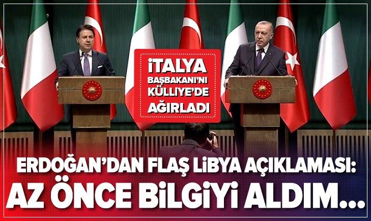 Erdoğan ile Conte'den flaş açıklamalar